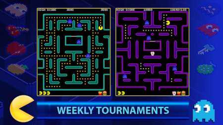 PAC-MAN +Tournaments (Android Pacman Oyunu)