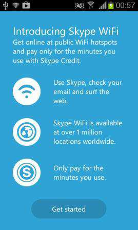 Skype WiFi Android Mobil