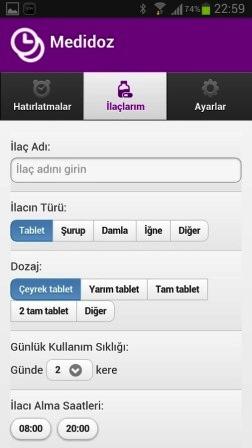 Android Medidoz İlaç Hatırlatıcı