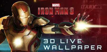 Iron Man 3 Live Wallpaper v1.0 Demir Adam Oyunu Duvar Kağıdı