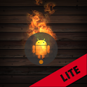 Droid on Fire LWP Lite - Yanan Android Duvar Kağıdı