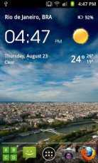 Transparent Clock & Weather - Android Şeffaf Saat Widget Uygulaması