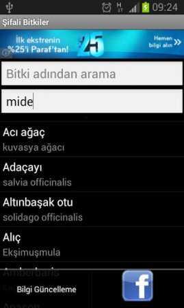 Şifalı Bitkiler (Android Şifalı Bitkiler Uygulaması)