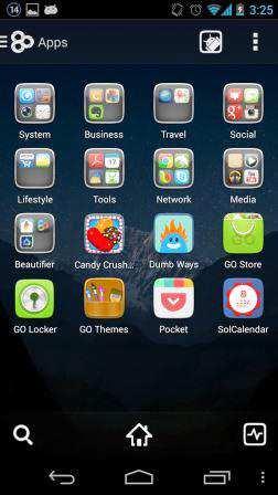GO Launcher EX (Android Tema Uygulaması)