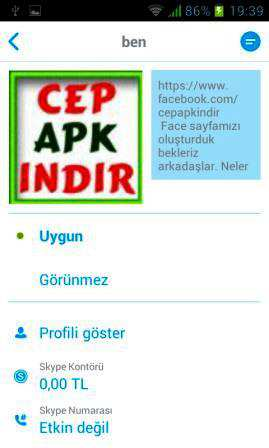 Skype Android indir