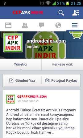 Facebook (Android Facebook Uygulaması)