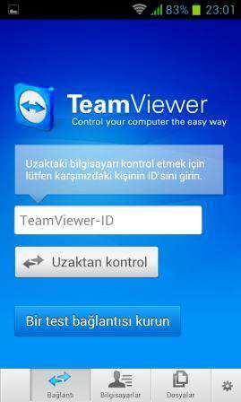 Telefondan Uzak Bilgisayara Bağlanma Programı TeamViewer Apk indir