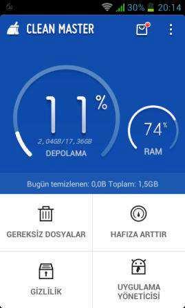 Clean Master - RAM Temizleyicisi ve Antivirüs