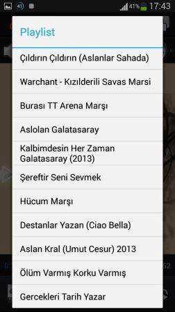 Galatasaray Marşları Apk İndir