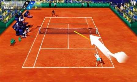 Android Tenis Oyunu Flick Tennis