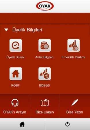 Oyak Mobil Uygulaması
