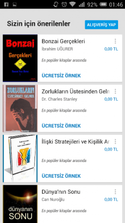 Google Play Books Android (Kitaplar)