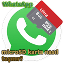 WhatsApp SD karta nasıl taşınır?