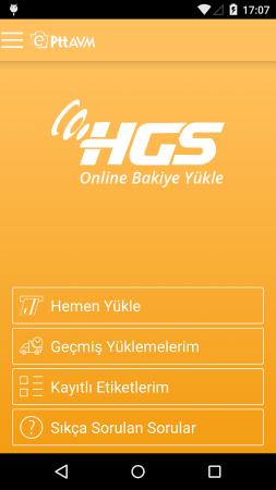 Android Orjinal Hızlı Geçiş Sistemi (HGS) Uygulaması