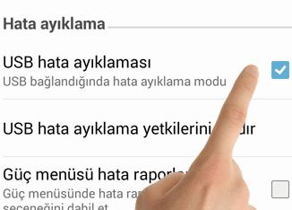 Android USB Hata Ayıklama Modunu Açma