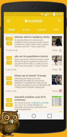 İnci Sözlük Android Uygulaması
